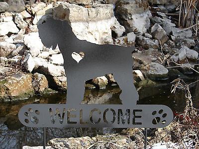 Miniature Schnauzer Garden Plaque Pet Memorial Yard Stake Personalized Metal Dog