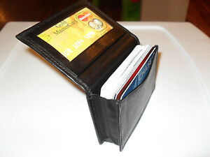 Genuine-Leather-Expandable-Credit-Card-ID-Business-Card-Holder-Wallet-Black