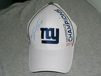 NFL PSA/DNA NEW YORK GIANT `11 MICHAEL BOLEY SIGNED CAP w/COA