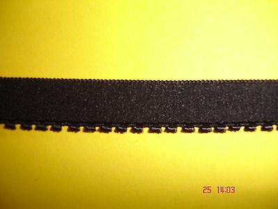10m elastisches Band 0,25€/m schwarz mit Mäusezähnchen MB14