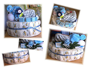 Diaper-Cake-with-Baby-Boy-Unique-Baby-Shower-Gift
