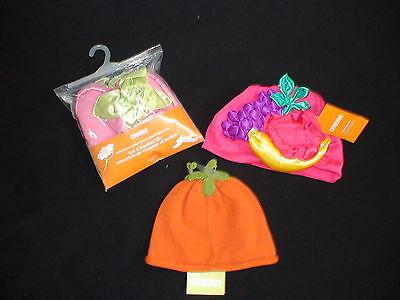Gymboree Halloween Pumpkin Knit Hat Costume Fruit Hat Fairy Bootie Set