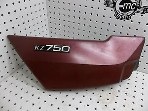 KAWASAKI-1976-1979-KZ750-KZ-750-RIGHT-SIDE-BODY-FRAME-COVER-OEM-VINTAGE-RED