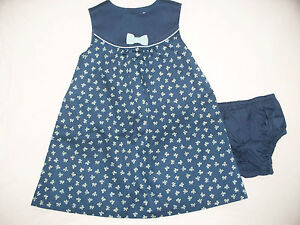 New With Tags Girls Janie and Jack Classic In Bows Dress Size 12-18 Months