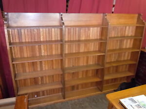 10ft-Oak-Display-Bookcase-OSU-Library-Cupboard-1800s-Cabinet-Book-Case-Shelving