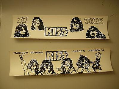 KISS 1977 BUMPER STICKERS LOT OF 2 MADISON SQUARE GARDEN