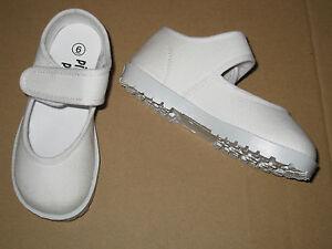 white janes canvas shoes non slip sole infant toddler