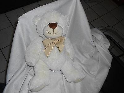 Circo Target Baby Tan Cream Stitched Bow 18 Plush Bear Lovey Big Soft