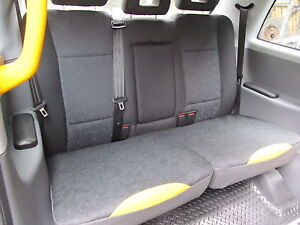 LTI TX1 TX2 & TX4 Rear seat cushion over covers set! London Black Taxi cab