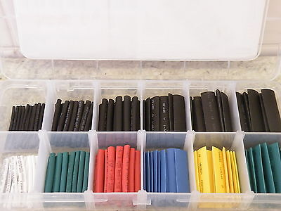 180pc Heat Shrink Sleeve Kit Sizes 2-9mm Black & Colours Classic Cars Electronic