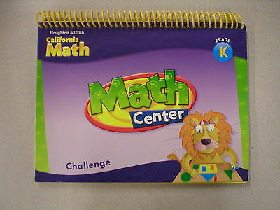 Houghton Mifflin California Math Grade K Math Center Classroom Book 0618888845