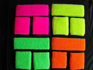 Neon-UV-Headband-Wristbands-Fancy-Dress-80s-Party-Dance-Fun-Run-One-Size