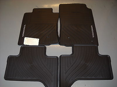 2005 - 2011 Toyota Tacoma Dbl Cab All Weather Rubber Floor Mats, PT908-35002-02