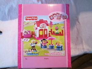 Fisher-Price-Little-People-Sweet-Valentine-Holiday-Set-Bakery-cards-letters-2012