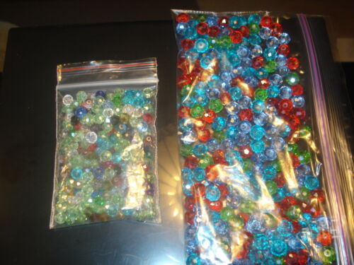90 MIXED SIZES & COLORS RONDELLE SWAROVSKI CRYSTAL BEADS 4&6&8MM(USA SELLER)1*MS