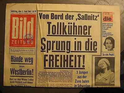 BILD ZEITUNG 3.6.1961 - FUSSBALL ENDRUNDE