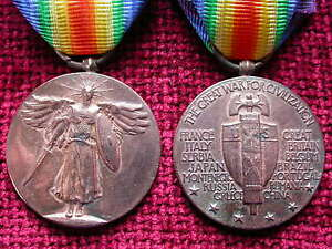 Replica Copy US American Victory Medal aged full size