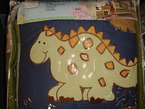 Small-Wonders-Wild-Dino-4-Piece-Crib-Set-Comforter-Sheet-Ruffle-Bumper-Pad