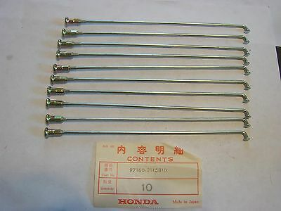 Honda Spokes A 1978-1979 Pa50 Moped 97160-21158-10 Qty10