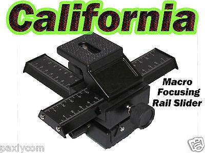 4 Way Macro Focusing Rail Slider For Close-up Shooting 4 ...