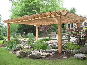 Big kahuna pergola kit as seen on indoors out on diy for Home design 8x16
