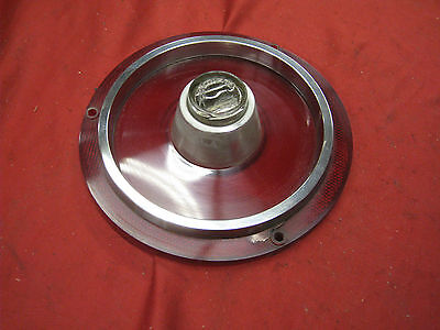 1962 Ford ORIGINAL Tail Lamp Lens W Back Up and Very Good Trim  FREE S&H