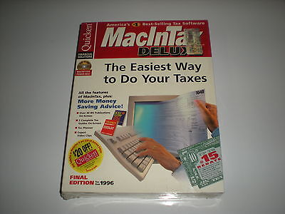 Macintax 1996 Deluxe By Turbotax (intuit) For Macintosh S...