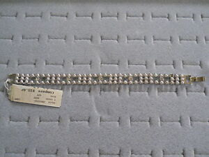 LIZ CLAIBORNE PEARL AND RHINESTONE BRACELET NEW WITH TAG