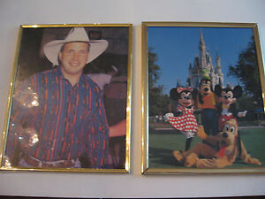 8-X-10-FRAMED-PHOTOS-OF-GARTH-BROOKS-MICKEY-MOUSE-AT-DISNEYLAND