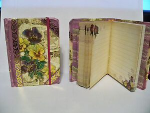 Punch-Studio-56389-Seed-Packets-Collage-Tiny-Book-Pocket-Journal-New