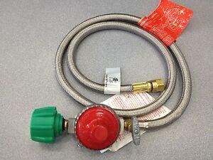 high pressure regulator hose 10 psi 48 stainless hose bayou classics m5hpr 1 ebay. Black Bedroom Furniture Sets. Home Design Ideas
