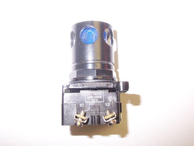 NEW CUTLER HAMMER 10250T/91000T BLUE PUSH BUTTON 120V RESISTOR 120MB LAMP