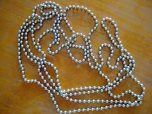 a diy continuous loop beaded chain for chandeliers
