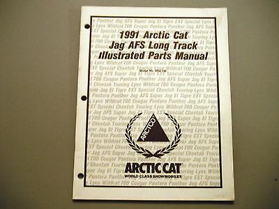 manuals arctic cat jag trainers4me 1991 vintage arctic cat jag afs long track parts manual