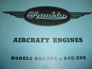 Franklin-6AC-264-AC-298-Service-Overhaul-Parts-Manual