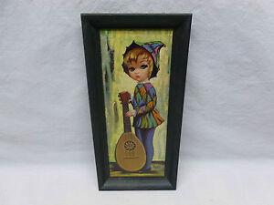 Vintage-Retro-Mod-60s-Eden-Big-Wide-Eyed-Girl-Guitar-Print-Wall-Hanging-Art
