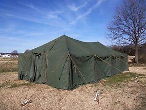 Military Tent Gp Medium Vinyl Canvas Army Surplus 16x32