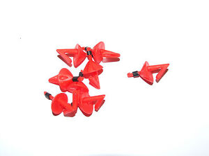 20 x RED BREAKAWAY IMPACT SHIELDS SEA FISHING RIG HOOK BAIT CLIP
