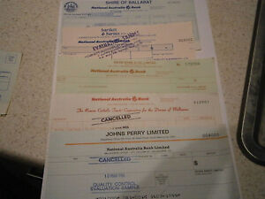 Bank Cheques Unused Quality Control Evaluaton Samples-----10 Different