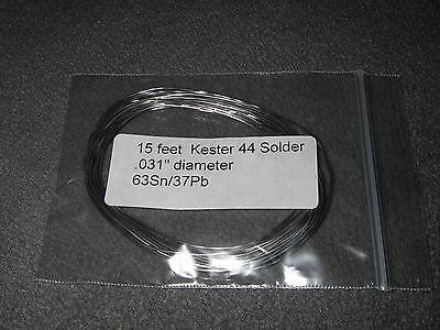 15 Feet Of Kester 44 Eutectic Rosin Core Solder 6337 .031 2016 Date Code