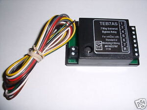 Universal Towbar Towing Smart 7 Way Bypass Relay For Cambus & Multiplex Wiring