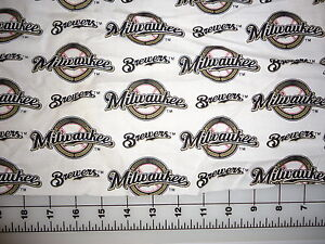 MLB Baseball Milwaukee Brewers Cotton Fabric 7
