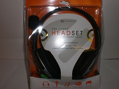 I-concepts Pro Stereo Headset With Flexible Boom Microphone