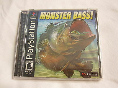 Monster Bass Playstation Ps1 Game Brand Sealed