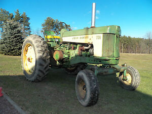 John-Deere-730-tractor-wide-front-3-point-GAS-strong-runner-LOOK