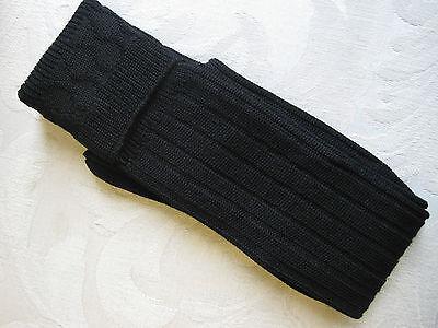 Black Wool Blend Kilt Hose Size Medium