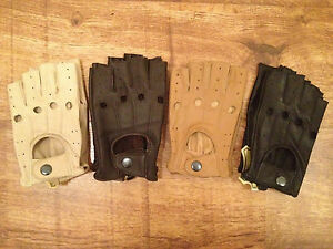NEW-MENS-FINGERLESS-DRIVING-GLOVES-SOFT-GENUINE-REAL-LEATHER-MOTOR-BIKE-FASHION