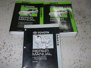 2001 toyota camry service shop repair manual set factory w transaxle book 2001 ebay. Black Bedroom Furniture Sets. Home Design Ideas