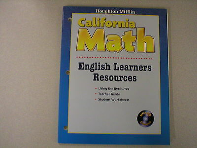 Houghton Mifflin California Math Grade K Kindergarten Resources Book 0618864946