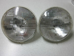 7 Inch Round Halogen Sealed Beam Headlights (Pair)  suit Jaguar MG Mini Rover